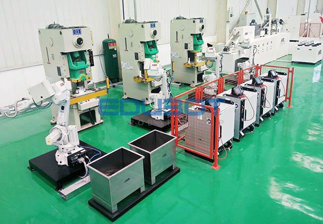 工业机器人多工位热锻自动化实训线